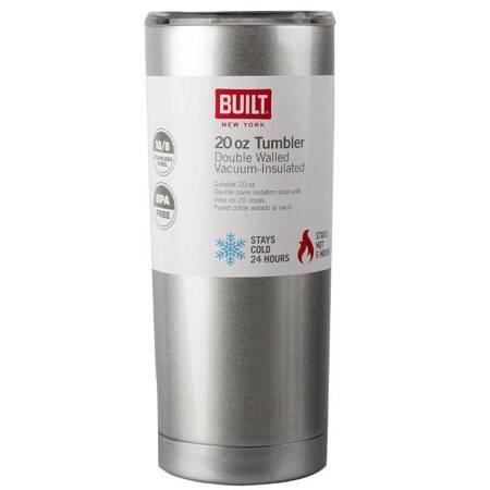 BUILT Vacuum Insulated Tumbler - Stalowy kubek termiczny z izolacją próżniową 0,6 l (Silver)