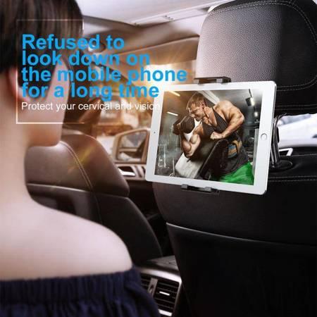 Baseus Backseat - Uniwersalny uchwyt na zagłówek dla tabletów i smartfonów (czarny)