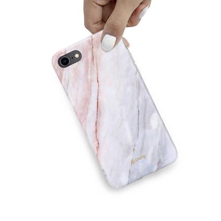 Crong Marble Case – Etui iPhone SE 2020 / 8 / 7 (różowy)