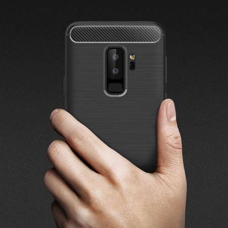 Crong Soft Armour Cover - Etui Samsung Galaxy S9+ (czarny)