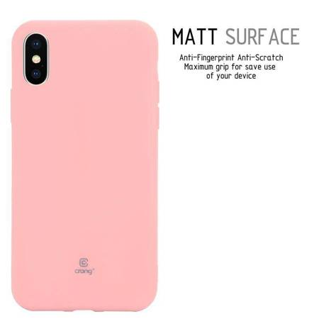 Crong Soft Skin Cover - Etui iPhone Xs / X (różowy)