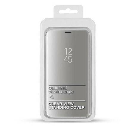 Etui Clear View Samsung Note 20 Ultra N985 srebrny/silver /Note 20 Pro