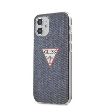 Guess Denim Triangle Dk - Etui iPhone 12 Mini (granatowy)
