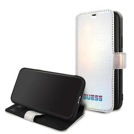 Guess GUFLBKN58BLD iPhone 11 Pro srebrny/silver book Iridescent