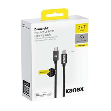Kanex DuraBraid - Kabel połączeniowy USB-C (Power Delivery) na Lightning MFi 1,2 m (Gold)