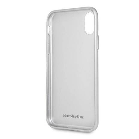 Mercedes MEHCPXHACASI iPhone X/Xs hard case srebrny/silver Real Carbon Dynamic