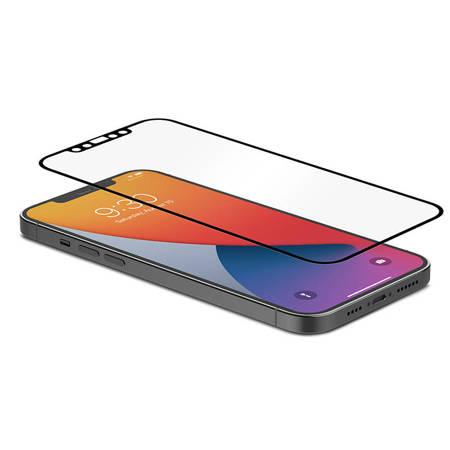 Moshi iVisor AG - Matowa folia ochronna na ekran iPhone 12 Pro Max (czarna ramka)