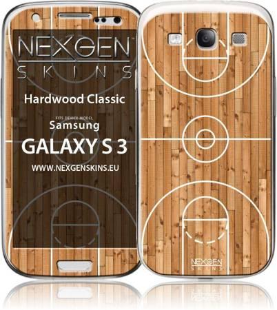 Nexgen Skins - Zestaw skórek na obudowę z efektem 3D Samsung GALAXY S III (Hardwood Classic 3D)