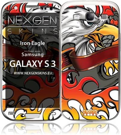 Nexgen Skins - Zestaw skórek na obudowę z efektem 3D Samsung GALAXY S III (Iron Eagle 3D)