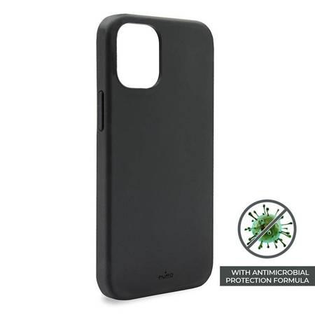 PURO ICON Anti-Microbial Cover - Etui iPhone 12 /  iPhone 12 Pro z ochroną antybakteryjną (czarny)