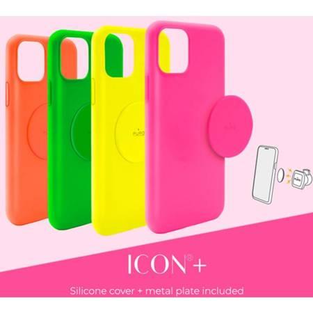 PURO ICON+ Cover - Etui magnetyczne iPhone 11 (fluo zielony)