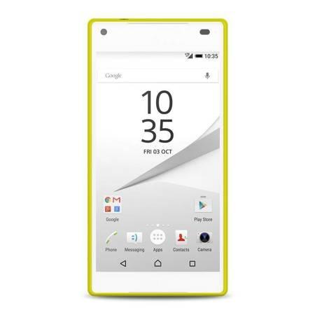PURO Ultra Slim 0.3 Cover MFX - Zestaw etui + folia na ekran Sony Xperia Z5 Compact (limonkowy)