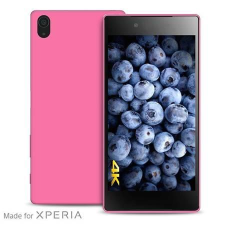 PURO Ultra Slim 0.3 Cover MFX - Zestaw etui + folia na ekran Sony Xperia Z5 Premium (różowy)