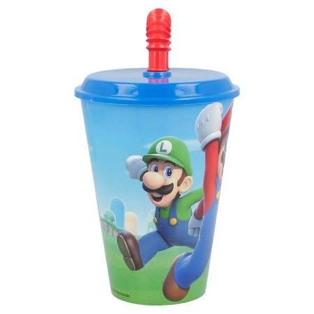Super Mario - Kubek ze słomką 430 ml
