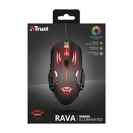 Trust GXT 108 Rava Illuminated - Mysz dla graczy 2000 DPI