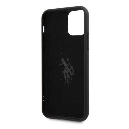 US Polo USHCN65SLHRBK iPhone 11 Pro Max czarny/black Silicone Collection