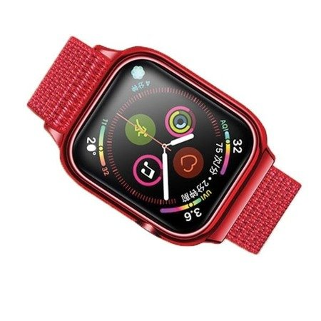 USAMS Pasek z etui Apple Watch 4 40mm. czerwony/red ZB73IW3 (US-ZB073)
