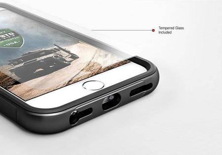Zizo Shock Case - Pancerne etui iPhone Xs / X z hartowanym szkłem na ekran (Purple/Gray)